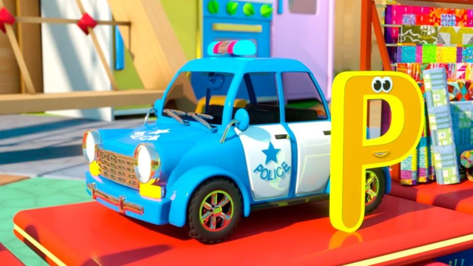 Мультфильм про машинки и паровозик Макс. Английский алфавит. Путешествие в зоопарк