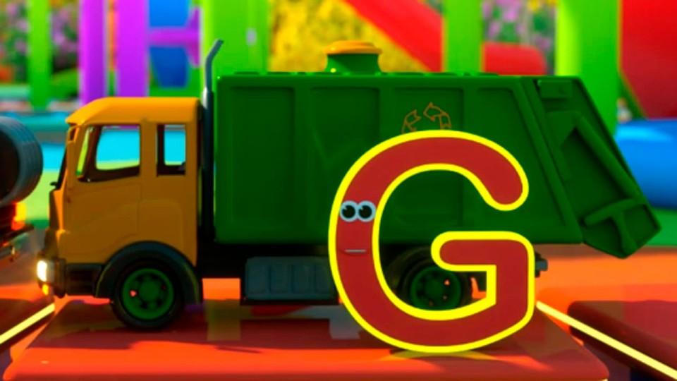 Мультфильм про машинки и паровозик Макс . Английский алфавит. Дорога в зоопарк с паровозиком Максом.