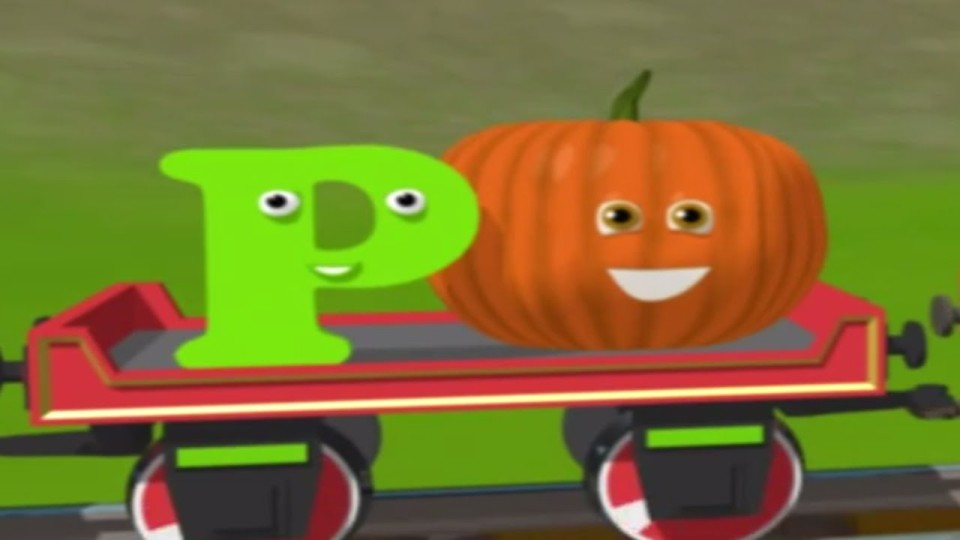 Развивающие мультфильмы для детей — Паровозик Шонни и тыква. Английская Буква P.