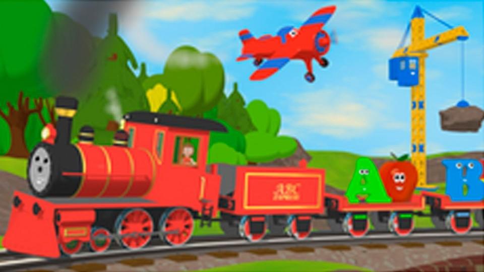 Мультфильмы для Детей — Английский Алфавит с Паровозиком Шонни и Алисой.