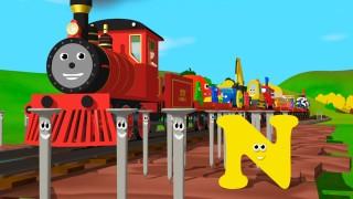 Мультфильмы для Детей — Паровозик Шонни. Учим английский алфавит N