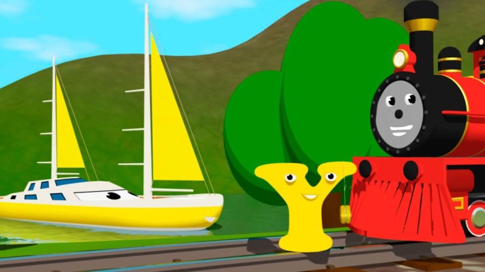 Мультик про паровозик: Учим английский алфавит Y с паровозиком Шонни: Развивающий мультик для детей