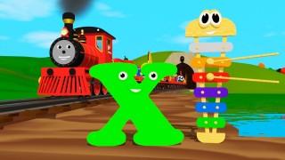 Мультик про паровозик: Учим английский алфавит  Х с паровозиком Шонни: Развивающий мультик для детей