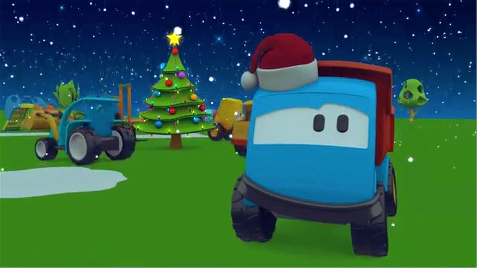 Мультфильмы на испанском языке. Leo la Troca Curiosa — ¡Feliz Navidad! — Christmas Special — Car cartoons for children