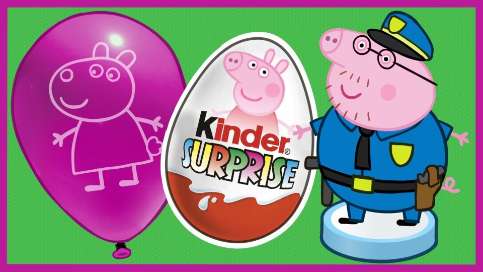Киндер Сюрприз. Свинка Пеппа профессии. Peppa Pig. Kinder Surprise.