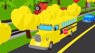 Мультик — раскраска для детей: Паровозик Шонни: Учим цвета: Автобус: Мультики про паровозики