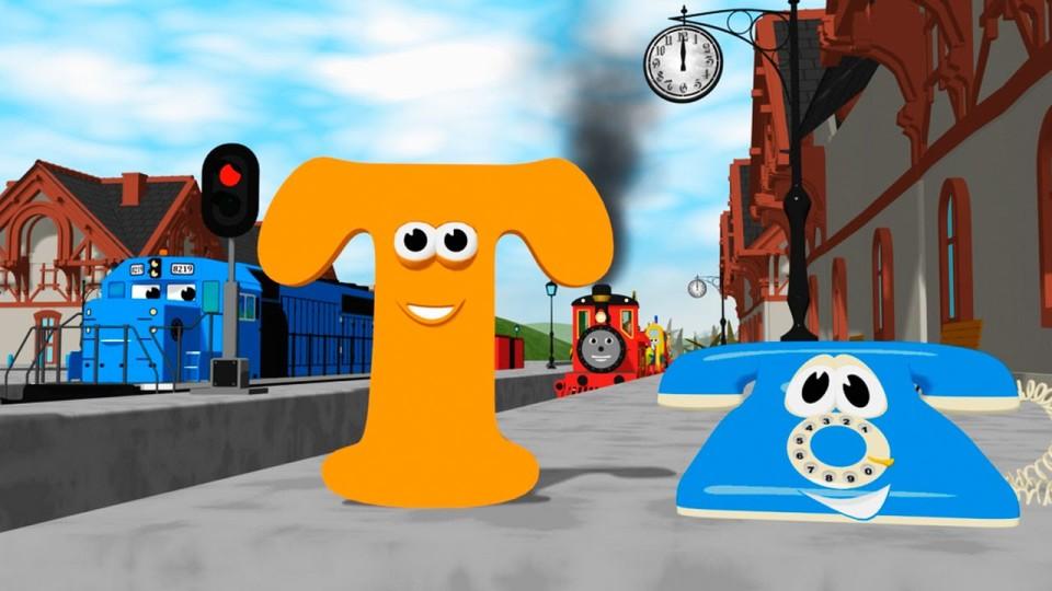 Мультик про паровозик: Учим английский алфавит Т с паровозиком Шонни: Развивающий мультик для детей