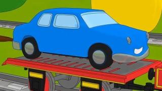 Мультик — раскраска: Паровозик Шонни: Учим цвета: Машинка: Мультики про паровозики