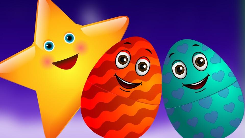 Мультфильм Twinkle Surprise Eggs Nursery Rhymes Toys | Twinkle Twinkle Little Star | Learn Colours | ChuChu TV